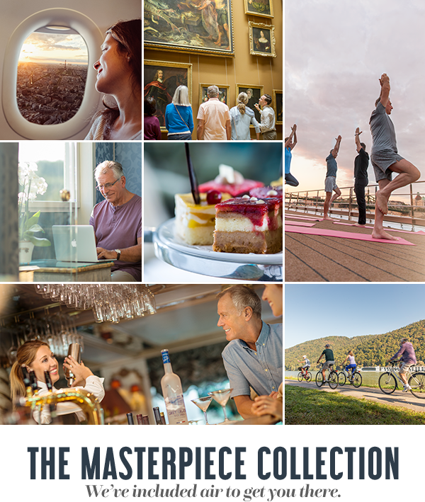 The Masterpiece Collection. We've included air to get you there.