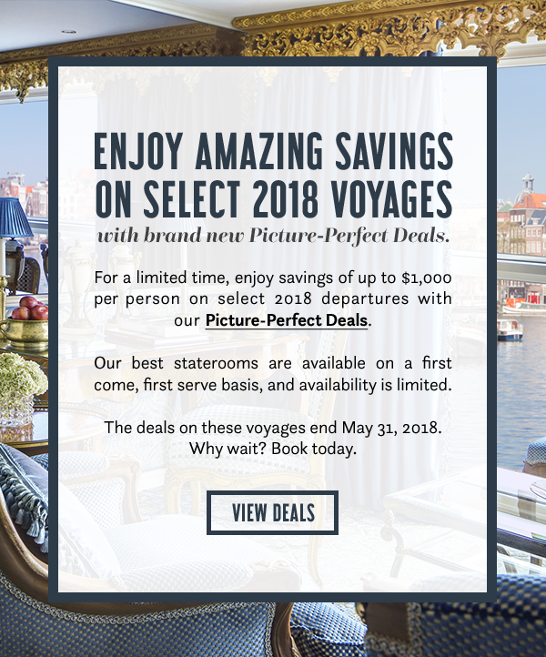 Enjoy amazing savings on select 2018 voyages - View deals here