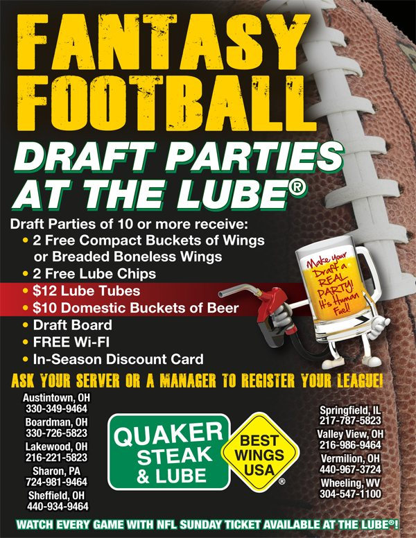 Quaker Steak Draft Party Special