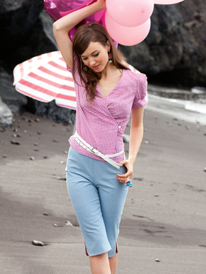 Capris and wraped Blouse
