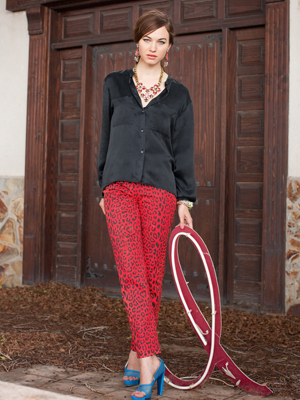 Pencil Pants and Hi-Low Blouse