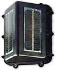 Lat‑Lon's solar powered tracking unit attaches magnetically to railcars, trucks, containers and ships