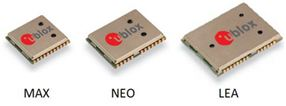 u‑blox GNSS modules MAX, NEO and LEA satisfy a wide range of global positioning needs by providing a scalable range of features, size, and interfaces