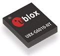UBX‑G6010-NT GPS receiver chip delivers high sensitivity and fast acquisition times and needs no external host